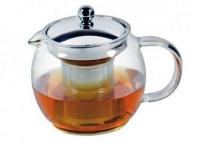 New Avanti Ceylon Glass Teapot With Infuser 750Ml 4 Cups Stainless Steel Glass