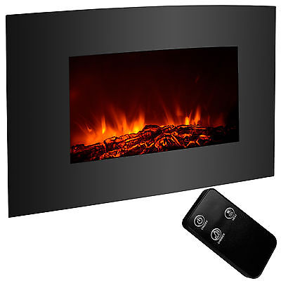 "1500W Adjustable 35""x22""XL Large  Fireplace Wall Mount Heater w/ Remote"
