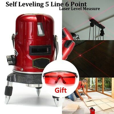 5 Lines 6 Points Precision Self Leveling 4V1H Laser Level Measure Rotary Lazer