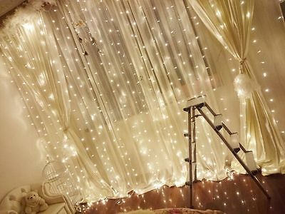 SAA 3*3M 304LED Curtain Fairy String Lights 3Mx3M For Wedding Backdrops