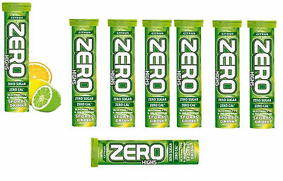80 x HIGH5 ZERO CITRUS Hydration TABLETS Drinks 8 tubes of 10 Tabs High 5