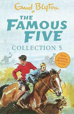 Famous Five Collection 5: Books 13-15 by Enid Blyton Paperback Book Free Shippin