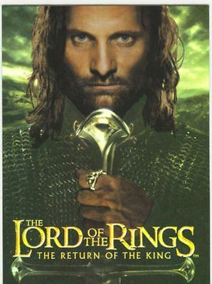 Lord Of The Rings RotK Boxtopper Foil Chase Card 1 Of 2