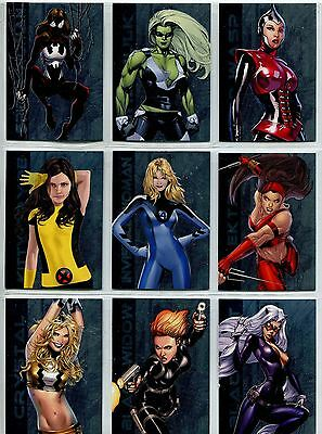 Women Of Marvel Series 2 Complete Ultimate Heroes Chase Card Set UH20-28