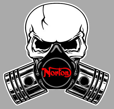 NORTON Pistons skull Sticker °
