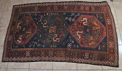 Antique Turkish hand-knotted carpet