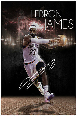 Lebron James Cleveland Cavaliers Autographed Signed Poster Print