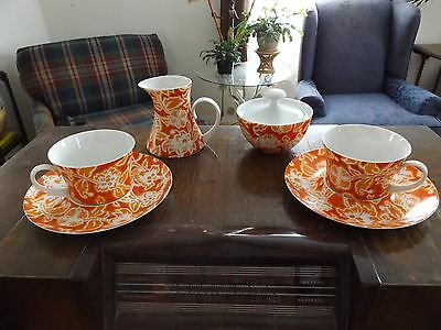Block Bidasoa Full Size Coffee/tea Set Rare Valencia Pattern