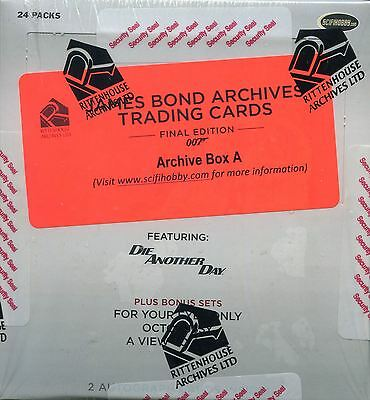 James Bond Archives 2017 Final Edition Factory Sealed Archive Box Connery ++