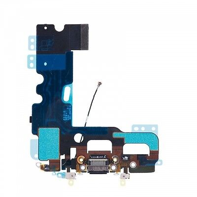 Charger Charging Dock Port Audio Jack Flex Cable For iPhone 7 Plus 5.5″ Black