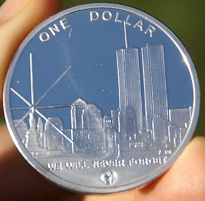 Northern Mariana Freedom Tower 2004 Silver Clad Commemorative