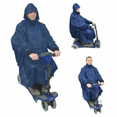 100% Waterproof Hooded Poncho Rain Cover Mac for Mobility Scooter