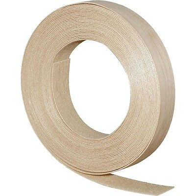 "Wood Veneer Edgebanding Edge Banding Tape Pre-Glued 7/8"" x 25' Birch"