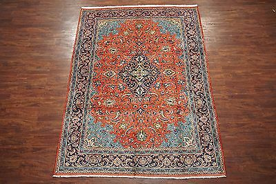Antique 7X11 Mahal Sarouq Area Rug in Excellent Condition Persian Wool Carpet