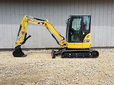 THUMB! 2013 Caterpillar 303.5E CR Mini Track Excavator CAB HEAT AIR AUX HYD CAT