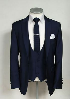 Custom made Navy Blue Men Wedding Suits Groom Tuxedos Formal Occasion Suits