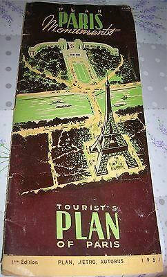 Plan des Monuments de PARIS - 1ere edition 1951