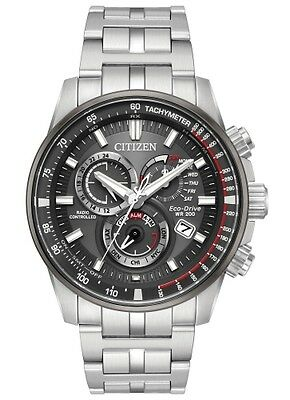 New Citizen Eco Drive Pcat Radio Controlled Perpetual Stainless Steel At4129-57H