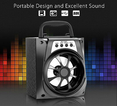 Redmaine MS - 133BT LED Bluetooth Wireless Speaker Stereo Outdoor  USB TF AUX FM