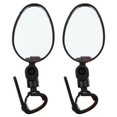 2Pcs Cycling Bike Bicycle Handlebar Rotaty Safe Rear View Rearview Mirror