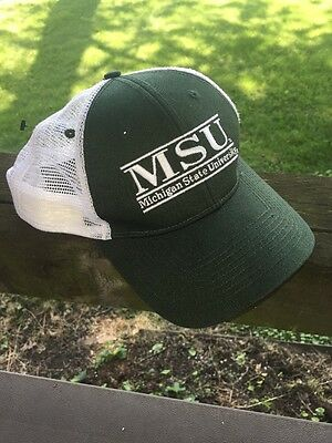 timeless design 2cc6e 36478 Michigan State University MSU Trucker Style Cap Snapback Mesh Hat by THE  GAME