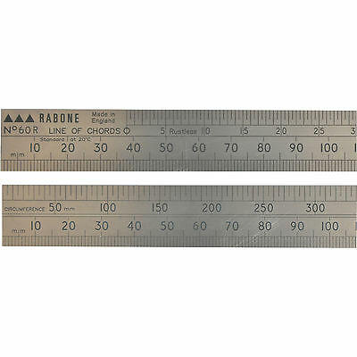"Stanley 60R Line Of Chords Engineers Steel Folding Rule 24"" / 600mm"