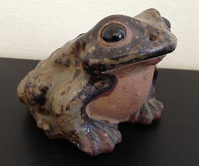 Lifelike Vintage Ceramic Pottery Frog Toad Garden Decor 60's Made in Japan