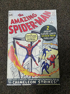 Reprint AMAZING SPIDERMAN #1 Custom Made with 1980's Original Reprint