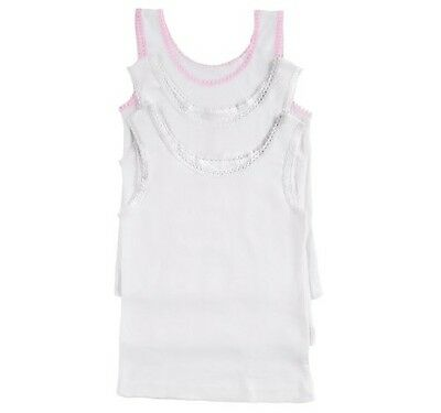 Garanimals Toddler Girls' 3-Pack White Camisoles Size 2T/3T
