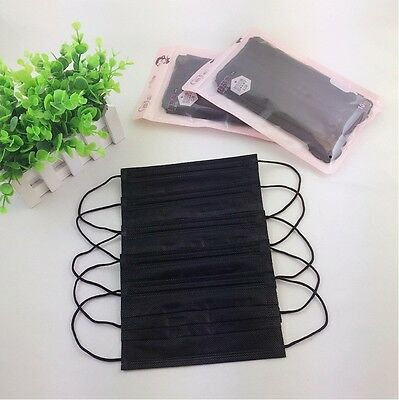 3- layer Black Disposable Breathable Earloop Surgical Face Mouth Mask 20x 30x 50
