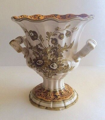 Italian Vintage Pottery Ceramic Hand Painted CAMPANA URN Vase MADE IN ITALY