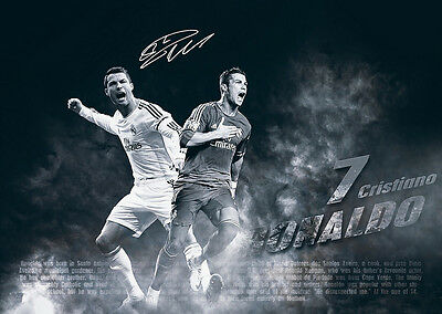 Cristiano Ronaldo CR7 Real Madrid Story Signed Autographed Large Poster Print