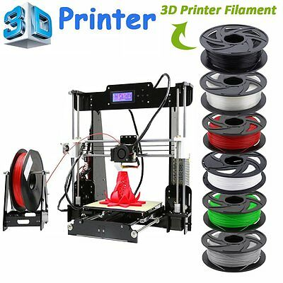 3D Printer full complete kit Acrylic Frame A8-L PLA ABS+Printer Filament LOT