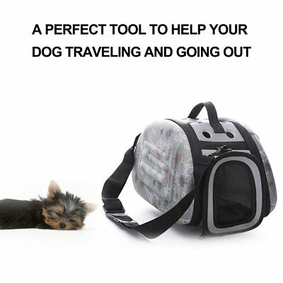 Lovely Floral Soft EVA Portable Pet Bag Breathable Outdoor Carrier Pet Bag L