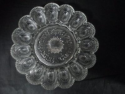 Brockway Clear Glass Deviled Egg Plate~American Concord Pattern