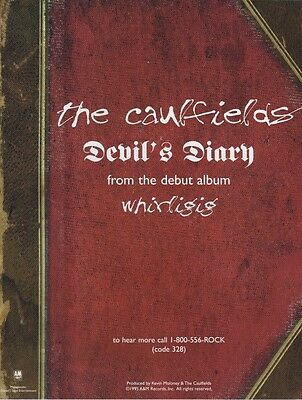 THE CAULFIELDS Original Magazine Advertisement DEVIL'S DIARY RARE!