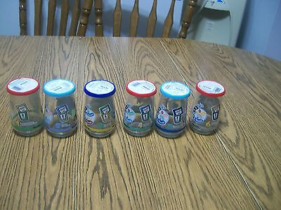 complete set  1996 1997 welch's welchs dr seuss grinch cat in the hat glass jars