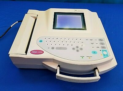 GE Medical System MAC 1200 EKG ECG Machine With Acquisition Module And Leads!