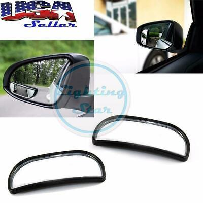 "3.4"" Adjustable Stick On Rear View Blind Spot Wide Angle Mirrors Car Truck SUVs"