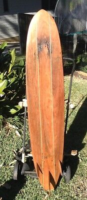 mini mal longboard Wooden Surfboard 144cm Surf Art beach decor