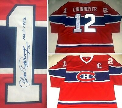 2bf6b15e345 YVAN COURNOYER AUTOGRAPHED Montreal Canadiens Jersey W/Hof1982 ...