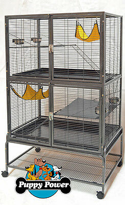 FERRET KINGDOM CAGE FOR FERRETS AND RATS 1.25cm BAR SPACING RRP $750