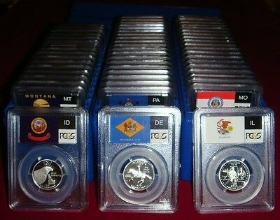 1999-2009 S Silver State Quarter 56 Coin Proof Set PCGS PR69 DCAM 25C New Holder