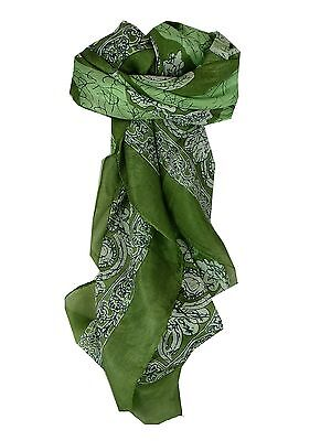 c70414b591c1 MULBERRY SILK CLASSIC Square Scarf Zahra Green by Pashmina   Silk ...