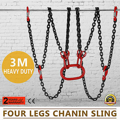 10 Foot Grade 80 4 Legs Chain Slings Lift-All Rigging Pull Tractor Excellent