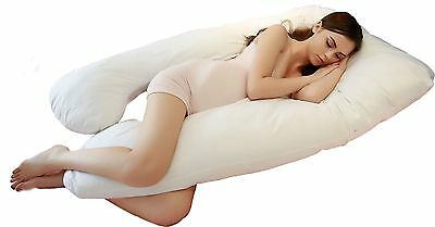 Jan Butterfly U-Shape Total Body Pregnancy Maternity Pillow with Removable 100%