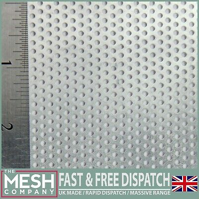 2mm Hole x 3.5mm Pitch x 1mm Thick Aluminium Perforated Mesh Sheet Plate