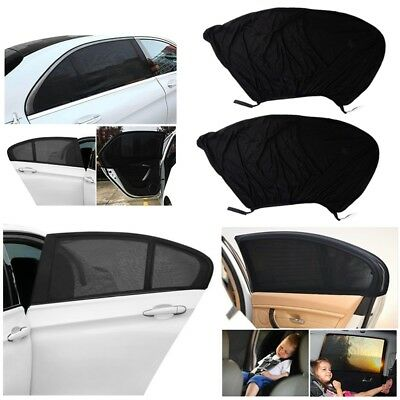 2 Pack Universal Sock Cover Car Window Sun Shade with UV Protection Baby Travel