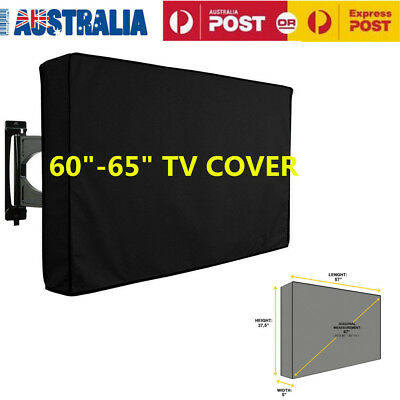 """60""""-65"""" Inch Waterproof TV Cover Outdoor Patio Flat Television Protector Black"""