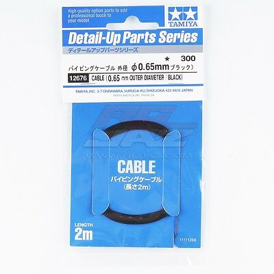 Tamiya 12676 0.65mm Piping Cable For 1/12 1/24 Scale Model Car Detail Up Parts